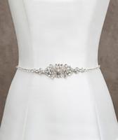 crystal belts - Fashionable Bridal Sashes and Belts Wedding Dress Sash for Wedding Beaded Rhinestone Crystal Wedding Belt Cheap
