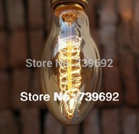 antique light shades - Price A20 Incandescent tungsten Vintage Light Bulb Edison Bulb Fixture E27 V W bullet shade Antique lamp Bulbs