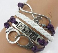 beautiful handcuffs - DIY SD0000155 European and American fashion mini handcuffs infinite infinity beautiful appearance multilayer woven bracelet