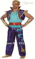 aladdin vest - Carnival cosplay costume adult Aladdin costume set with vest waistband and gloves XY10078
