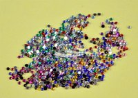 Wholesale 1MM Colors Nail Art rhinestones Decoration For UV Gel Acrylic Systems