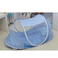 Cheap New Arrival Blue Pink Mosquito Net for Babies,Baby Mosquito Net Tent for Baby Infant Crib Folding Bed,Kids Canopy Mosquito Bed