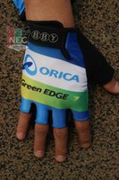 bby - BBY GREEN EDGE ORICA Unisex Cycling Gloves gloves Bike bicycles gloves with Gel pads half finger gloves for Tour of France