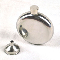 Wholesale Portable oz Round Wine Pot Stainless Steel Hip Flask With Funnel Men s Outdoor Fishing Picnics Accessories os170