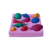 Wholesale Many Kinds Of Shell Shape D Silicone Cake Mold For Bakeware Cake Jelly Candy Decorating