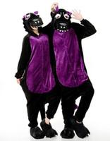 Wholesale Hoodies Adult Black Dragon Onesie Women Men Anime Cartoon Cosplay Costumes Party Dress Sleepwear