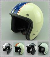Wholesale casco capacetes motorcycle helmet vintage helmet high quality S M L XL size open face scooter helmets
