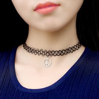 handmade necklace - Handmade Hot Selling Vintage Stretch Tattoo Choker Necklace Gothic Punk Grunge Henna Elastic with Choker Pendant Necklaces J1070