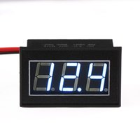 Wholesale 5 Digital Voltmeter DC V Blue Led Display Voltage Monitor DC V V Volt Meter Waterproof Shockproof