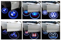 Wholesale 20pcs Vehicle Car LED wireless projection LOGO Mark Door Welcome Light Door Step Ground Projecting Lamp for all brands