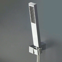 Wholesale Sqaure Style Single Function brass hand shower head with wall bracket and hose