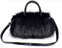 Wholesale Winter Messenger Bag Fur Style For Women White Black Color PC B4