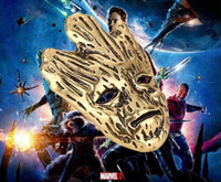 african face mask - 18pcs Bronze vintage alloy moive Guardians of the Galaxy Groot face Grimace Shuren mask pendant necklace boy fashion men girls Hot x080