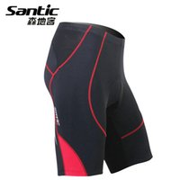 pads motorcycle - SANTIC New Men s MTB Bike Bicycle Cycling Riding Motorcycle Downhill ciclismo Shorts Tights Clothing COOLMAX Padded