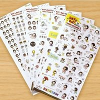 Wholesale Korea stationery Bobo head girl stickers transparent decorative stickers affixed to the paper into the suit diary