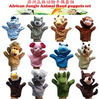 africa for kids - Set Cartoon Africa Animals Plush Hand Puppets Set For Kids Baby Plush Toys Talking Props For Christmas Gifts