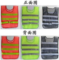 Wholesale Safety warning clothing Light Thin Breathable Reflective Vests Environmental Sanitation Coat Safety Vest Green Reflective Safety Clothing