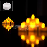Wholesale 100 LED Flickering candle flameless with Battery electronic Candles inch for Christmas party ritual decoration order lt no track
