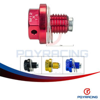 Wholesale PQY STORE NEW Type M12 Magnetic Oil Drain Plug Oil Drain Sump Nut Gold Blue Red Black For BMW PQY NODP1215