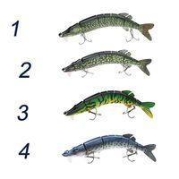 Wholesale LIXADA quot cm g Lifelike Multi jointed segement Pike Muskie Fishing Lure with Swimbait Crankbait Hard Bait Treble Hook Y0542