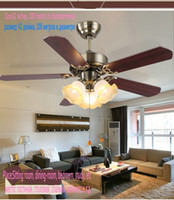 Wholesale Classical ceiling fan light with trumpet glass led lamp