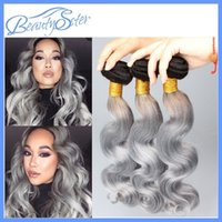 for black hair products - european quality hair products brazilian body wave bundles virgin silver grey hair weave for black women a grade quot quot