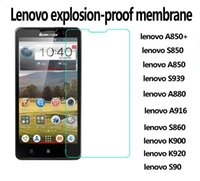 For Lenovo A850 9H Hardness Wholesale lenovo A850+  S850 A850 S939 A880  A916 toughened membrane lenovo S860 K900 K920 S90 glass membrane 0.26 mm explosion-proof