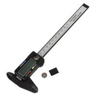 Wholesale 10pcs LightWeight mm Range LCD Display Plastic Carbon Fiber Composites Digital Caliper INS_419