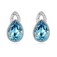 amethyst clip earrings - 2015 Clip on Screw Back Virgin Hair White Promotion New Coming Endearing Scintillant Drip Crystal Clip Earrings fancy Trinket a93