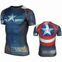 Wholesale COOL T shirt Super Hero Bike Jersey Batman Super Man Short Sleeve Maillot Iron Man Captain A Ciclo Jersey Tshirt Cycling Jersey