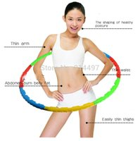 Wholesale 80CM diameters Removable Fitness HULA Hoops Top quality hula Hoop Freeshipping