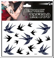 artists birds - Hot Swallow Bird Temporary Tattoos Artist Fashion Waterproof temporary tattoo sticker Drop Shipping