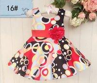 Wholesale Summer Girls Dresses Children Cotton Dress Girls Summer Dress with Beautiful Flower Printed Girls Sleeveless Dress