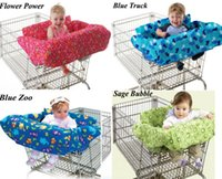 baby trolley covers - New Baby kid toddler child infant boy girl children shopping cart cover trolley cart cover shopping trolley seat cover cushion pad mat