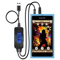 FM185 audio receiver sale - Hot sale Car FM Transmitter Audio Receiver Adapter mm Audio Port Mobile Changer for Samsung FM185