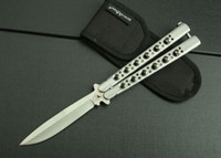 Wholesale butterfly S full rivet knife sharp blade and full steel material cr13mov blade total lenght23 cm oringinal box