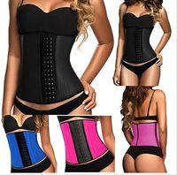 Wholesale 2015 latex Corset Women Waist Training corsets Rubber shapers Colors Cincher Belt Belt Underbust Body waist trainer Shapewear pieces