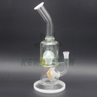 glass fish bowl - 12 quot New Arrive Handmade Glass Oil Rig Glass Globe Tyre And Fish Perc Glass Water Pipe Bongs MM Joint For MM Bowl