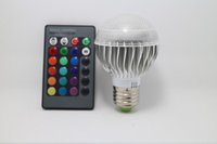 Wholesale color changing Factory outlet Low price AC V RGB LED Lamp W E27 led Bulbs led Lamps with Remote Control led lighting02