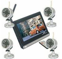 Wholesale 2 GHz Wireless CCTV Security Camera Video Systems Inch Digital Color TFT LCD Meters Night Vision
