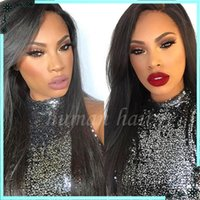 beauty hand knotted - Beauty peruvian natural straight lace front wig human hair full lace wig density bleached knot baby hair around