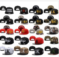 hat factory - 2015 New Fashion LK Last Kings Cap Baseball Hip Hop Hat TMT Sport LA Diamond Adjustable Snapback Leopard hats styles top quality factory