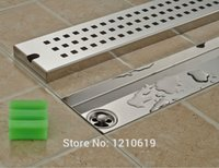 Wholesale New Arrivel Chrome Finished Rectangle Ground Drainer Strainer Stainless Steel Shower Floor Drain