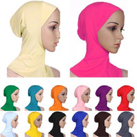Wholesale Muslim Women s Cotton Full Cover Inner Hijab Caps Islamic Hats Underscarf