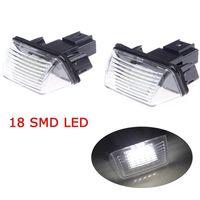 Wholesale 2pcs Bright Leds License Plate Light Lamp Bulbs Number Plate Light for Peugeot Citroen C3 C3 Ii C3