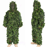 airsoft ghillie suits - 3D Jungle Camo Ghillie Suit Camouflage Hunting clothing SNIPER Tactical Camouflage Suit Bionic training suit Paintball Airsoft