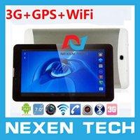 """DHL Livraison gratuite 7 """"GPS WIFI 3G WCDMA 800x480 MTK6572 Android 4.2 de 7 pouces Bluetooth Emplacement pour carte SIM 3G téléphone 3G Tablet PC Appel"""
