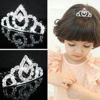 Wholesale Best Sellings Children Hair Accessories Girl Rhinestone Tiara Headband flower girl Princess Made In China