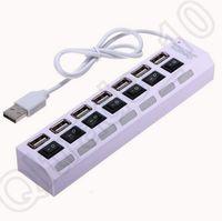 Wholesale 500PCS HHA703 Cheap Portable Universal Black USB Multi Port Socket Ports USB Hub Fast Charging Charger Station Office Gift