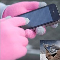 Wholesale pairs Magic Touch Screen Stretch Winter Knit Gloves Smartphone One Size Adult